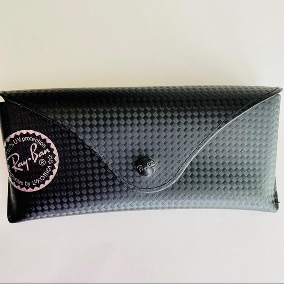 Ray-Ban Luxottica black sunglasses case Rayban